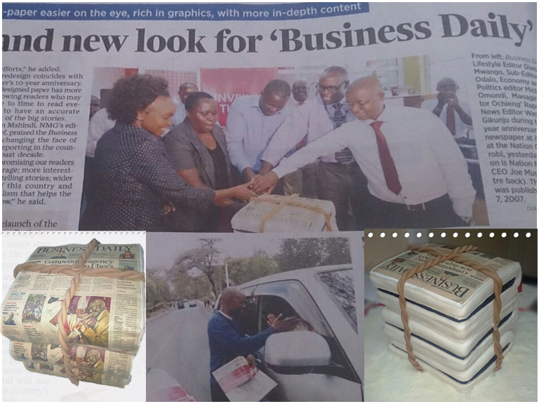 Business Daily Re-brand Cake
