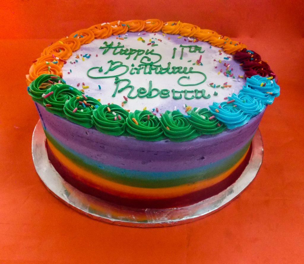 DSCN9516 1024x891 - rainbow Birthday Cake
